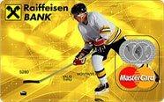 Кредитная карта Raiffeisenbank MasterCard с уникальным зимним дизайном.